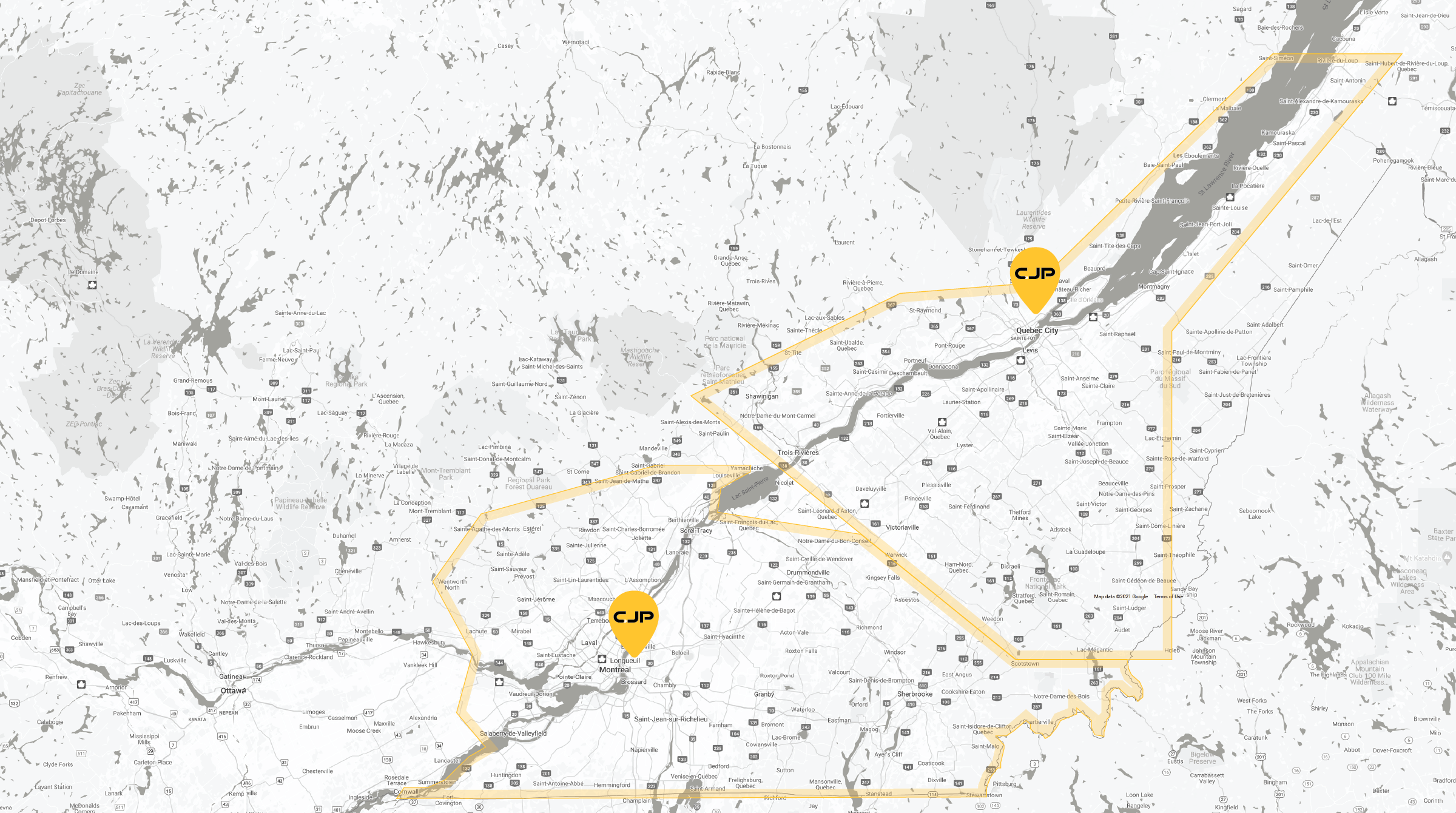 CJP Delivery Zones